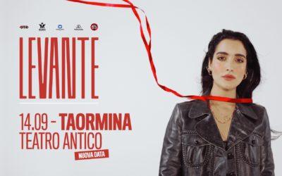 LEVANTE // NUOVA DATA // 14 SETTEMBRE TEATRO ANTICO TAORMINA