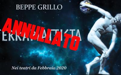 Beppe Grillo – annullamento spettacoli in Sicilia