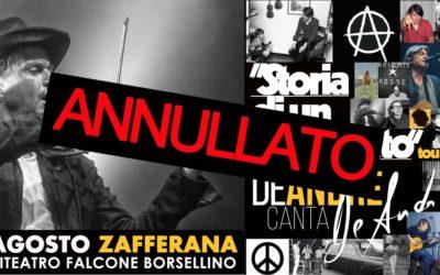 Nota** concerto Cristiano De andrè / 9 agosto Zafferana